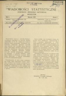 Wiadomości Statystyczne Syndykatu Przemysłu Naftowego : 1931 : nr 1