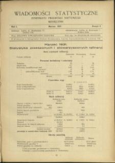 Wiadomości Statystyczne Syndykatu Przemysłu Naftowego : 1931 : nr 3