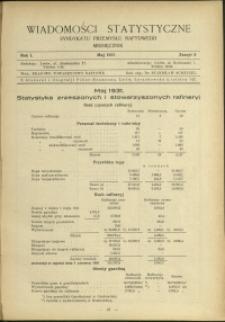 Wiadomości Statystyczne Syndykatu Przemysłu Naftowego : 1931 : nr 5