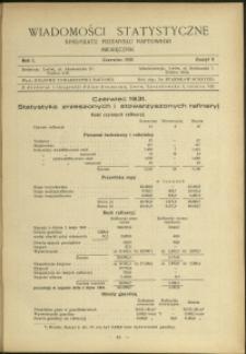 Wiadomości Statystyczne Syndykatu Przemysłu Naftowego : 1931 : nr 6