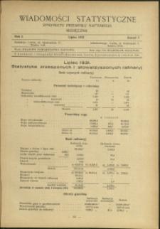 Wiadomości Statystyczne Syndykatu Przemysłu Naftowego : 1931 : nr 7