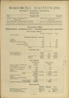 Wiadomości Statystyczne Syndykatu Przemysłu Naftowego : 1931 : nr 9