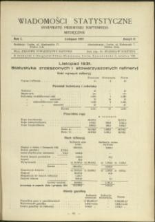 Wiadomości Statystyczne Syndykatu Przemysłu Naftowego : 1931 : nr 11
