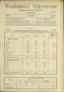 Wiadomości Statystyczne Syndykatu Przemysłu Naftowego : 1932-1933 : nr 5
