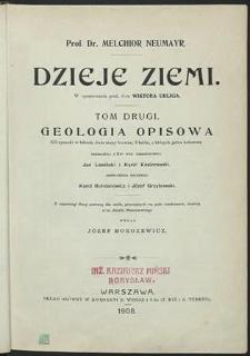 Dzieje ziemi ; Geologia opisowa. T.2