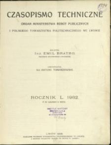 Czasopismo Techniczne : 1932 : nr 1