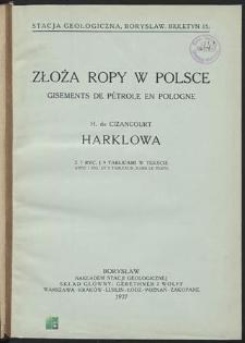 Złoża ropy naftowej w Polsce : Harklowa