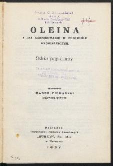 Oleina i jej zastosowanie w przemyśle włókienniczym