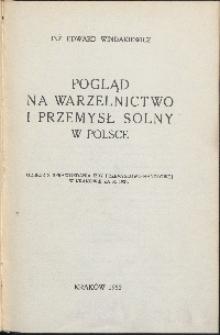 Pogląd na warzelnictwo i przemysł solny w Polsce