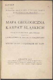 Mapa geologiczna Karpat Śląskich