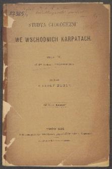 Studyja geologiczne we wschodnich Karpatach