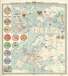 Mapa poglądowa światowego przemysły górniczego i komunikacji