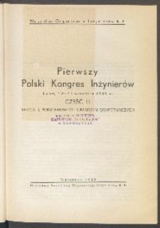 Pierwszy Polski Kongres Inżynierów, Lwów, 12 - 14 września 1937 r.