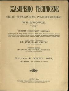 Czasopismo Techniczne : 1913 : nr 1