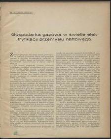 Aktualne Zagadnienia Przemysłu Naftowego : Zbiór referatów wygłoszonych na Zjeździe Naftowym w Jaśle i Krośnie roku 1928
