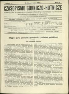 Czasopismo Górniczo-Hutnicze : 1919 : z. 3
