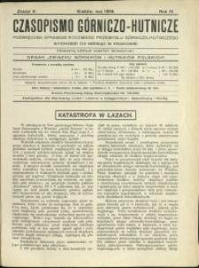 Czasopismo Górniczo-Hutnicze : 1919 : z. 5