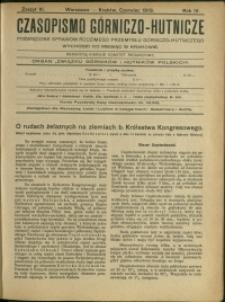 Czasopismo Górniczo-Hutnicze : 1919 : z. 6