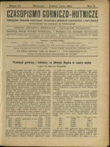 Czasopismo Górniczo-Hutnicze : 1919 : z. 7