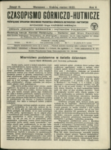 Czasopismo Górniczo-Hutnicze : 1920 : z. 3