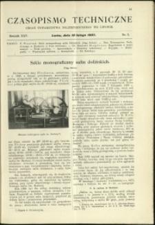 Czasopismo Techniczne : 1907 : nr 3