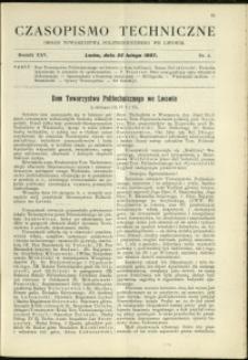 Czasopismo Techniczne : 1907 : nr 4