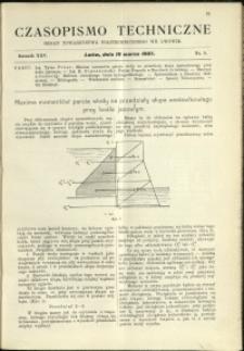 Czasopismo Techniczne : 1907 : nr 5