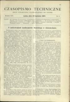 Czasopismo Techniczne : 1907 : nr 8