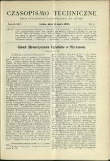 Czasopismo Techniczne : 1907 : nr 9