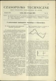 Czasopismo Techniczne : 1907 : nr 10