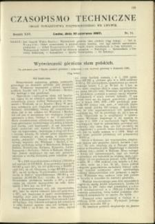 Czasopismo Techniczne : 1907 : nr 11