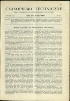 Czasopismo Techniczne : 1907 : nr 13