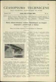 Czasopismo Techniczne : 1907 : nr 14