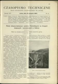 Czasopismo Techniczne : 1907 : nr 15