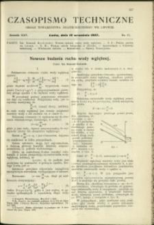 Czasopismo Techniczne : 1907 : nr 17