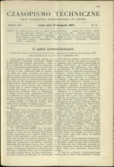 Czasopismo Techniczne : 1907 : nr 21