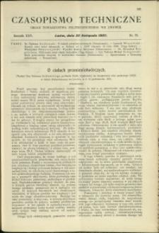 Czasopismo Techniczne : 1907 : nr 22