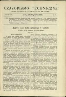 Czasopismo Techniczne : 1907 : nr 23