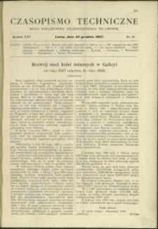 Czasopismo Techniczne : 1907 : nr 24