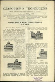 Czasopismo Techniczne : 1909 : nr 3