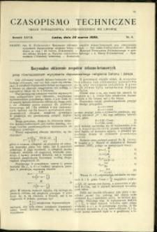 Czasopismo Techniczne : 1909 : nr 6