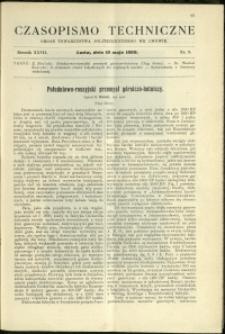 Czasopismo Techniczne : 1909 : nr 9