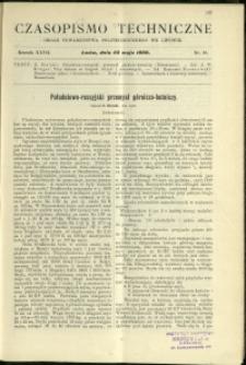 Czasopismo Techniczne : 1909 : nr 10