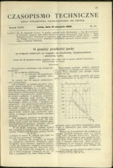Czasopismo Techniczne : 1909 : nr 15