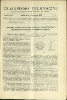 Czasopismo Techniczne : 1909 : nr 16