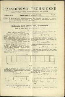 Czasopismo Techniczne : 1909 : nr 18