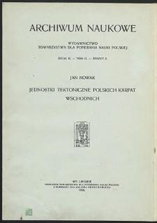 Jednostki tektoniczne polskich Karpat Wschodnich