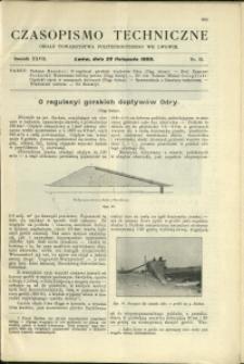Czasopismo Techniczne : 1909 : nr 22