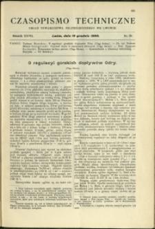 Czasopismo Techniczne : 1909 : nr 23