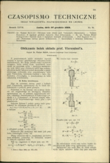 Czasopismo Techniczne : 1909 : nr 24